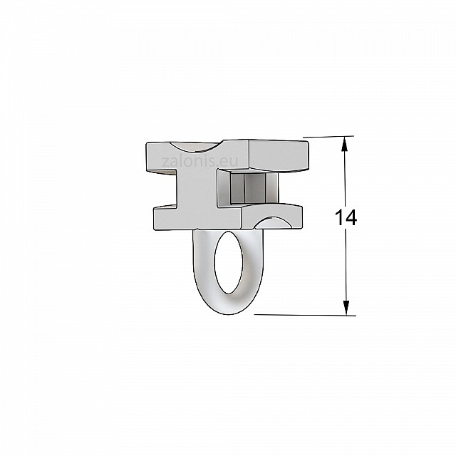 CURTAIN RAIL ROLLER 10 PIECES